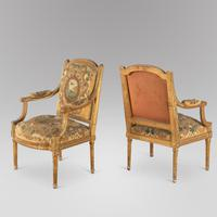 Pair of French Louis XVI Late 19th Century Armchairs (3 of 6)
