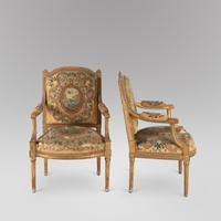 Pair of French Louis XVI Late 19th Century Armchairs (2 of 6)