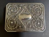 Art Nouveau Style Silver Jewellery Box (3 of 6)
