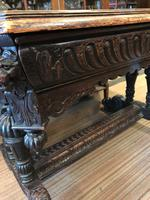 Carved Oak Dolphin Table c.1840 (4 of 9)
