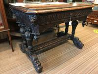 Carved Oak Dolphin Table c.1840 (8 of 9)