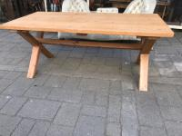 Pine X Stretcher Table