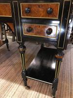 Burr Walnut / Ebony Desk C.1880