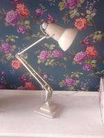 Wonderful Cream 1950s Herbert Terry Anglepoise Desk Lamp 2 Step