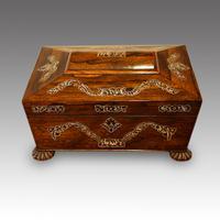 Antique Rosewood Inlaid Box c.1830