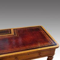Victorian Oak Writing Table (6 of 15)