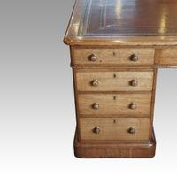Victorian Oak Partners Desk (8 of 14)