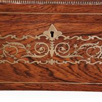 Regency Brass Inlaid Work Table (3 of 14)