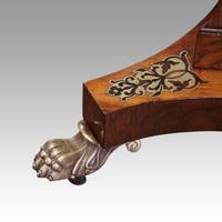 Regency Brass Inlaid Work Table (6 of 14)