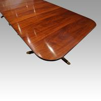 Regency Style Mahogany 3 Pillar Dining Table (7 of 11)