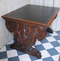Italian Walnut Library Writing Desk