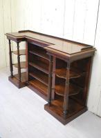 Antique Regency Inverted Display / Book Shelves
