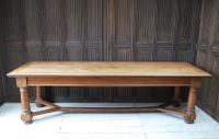 Large Antique English Oak Farmhouse Table c.1900