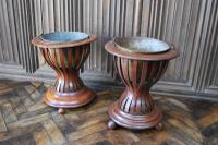 Pair of Mahogany Oyster Buckets / Wine Coolers