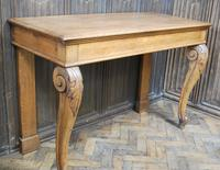 Antique Oak Console Hall Table c.1850 (6 of 9)