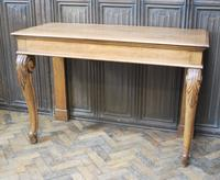 Antique Oak Console Hall Table c.1850 (4 of 9)