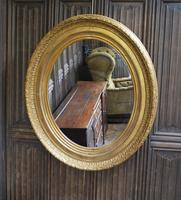 Large Antique Oval Gilded Mirror c.1890 (2 of 5)