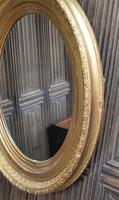 Large Antique Oval Gilded Mirror c.1890 (3 of 5)