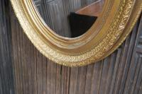 Large Antique Oval Gilded Mirror c.1890 (5 of 5)