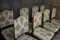 Set of Eight Tapestry Dining Chairs (3 of 9)