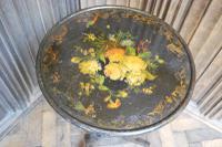 Antique French Ebonised Tripod Table (2 of 6)