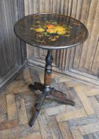 Antique French Ebonised Tripod Table (3 of 6)