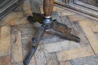 Antique French Ebonised Tripod Table (5 of 6)