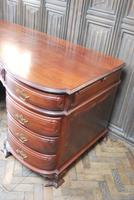 Freestanding French Mahogany Pedestal Desk (3 of 12)