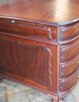 Freestanding French Mahogany Pedestal Desk (4 of 12)