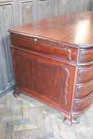 Freestanding French Mahogany Pedestal Desk (5 of 12)