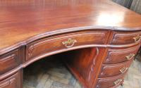 Freestanding French Mahogany Pedestal Desk (7 of 12)