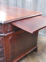 Freestanding French Mahogany Pedestal Desk (9 of 12)