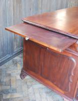 Freestanding French Mahogany Pedestal Desk (10 of 12)