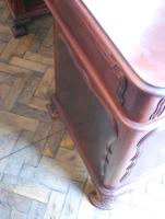 Freestanding French Mahogany Pedestal Desk (11 of 12)