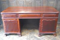 Freestanding French Mahogany Pedestal Desk (12 of 12)