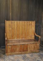 Antique English Pine Settle (2 of 7)
