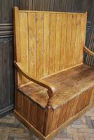 Antique English Pine Settle (3 of 7)