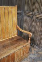 Antique English Pine Settle (4 of 7)