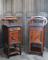 Pair of Art Nouveau Bedside Cabinets (2 of 7)