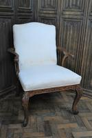 Antique Gainsborough Style Open Armchair c.1860 (2 of 6)