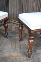 Near Pair of English Upholstered Foot Stools (6 of 7)