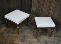 Near Pair of English Upholstered Foot Stools (3 of 7)