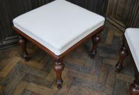 Near Pair of English Upholstered Foot Stools (5 of 7)