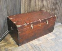 Antique Indian Teak Campaign Box (4 of 9)