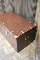Antique Indian Teak Campaign Box (3 of 9)