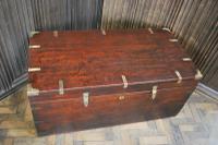 Antique Indian Teak Campaign Box (6 of 9)