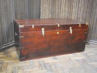 Antique Indian Teak Campaign Box (5 of 9)