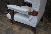 Antique Scottish Upholstered Reclining Armchair (6 of 8)