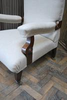 Antique Scottish Upholstered Reclining Armchair (4 of 8)