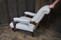 Antique Scottish Upholstered Reclining Armchair (8 of 8)
